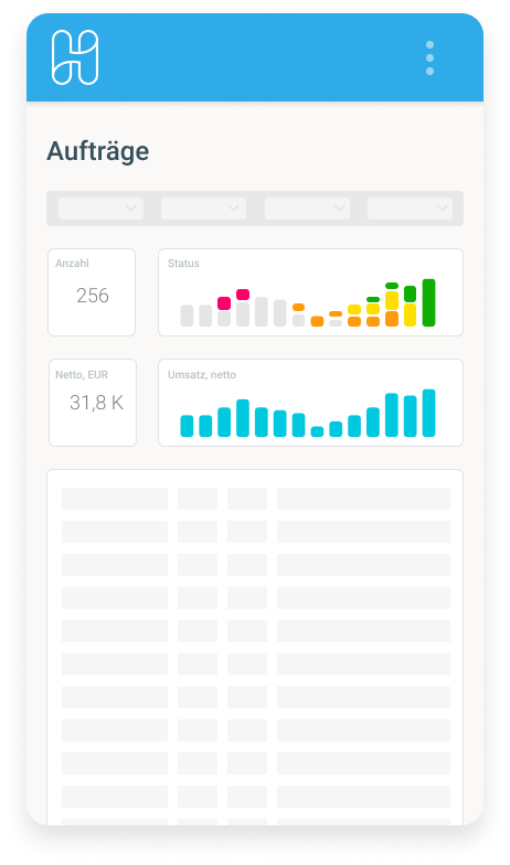 Hublify App Order Management Dashboard Mobile