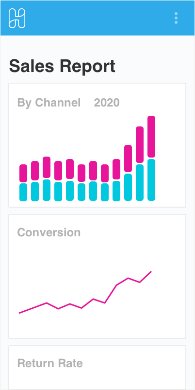 Hublify Analytics Sales Report Mobile